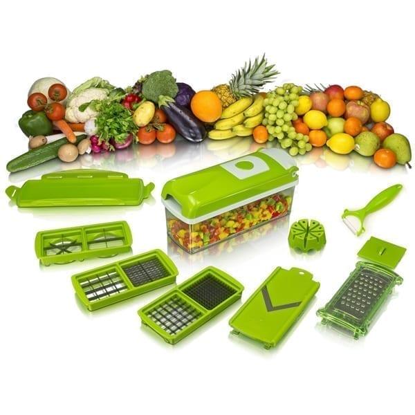 Buy Online Nicer Dicer Plus by Genius 12 pieces Fruit vegetable slicer Food-Choppe Stainless Steel In Pakistan