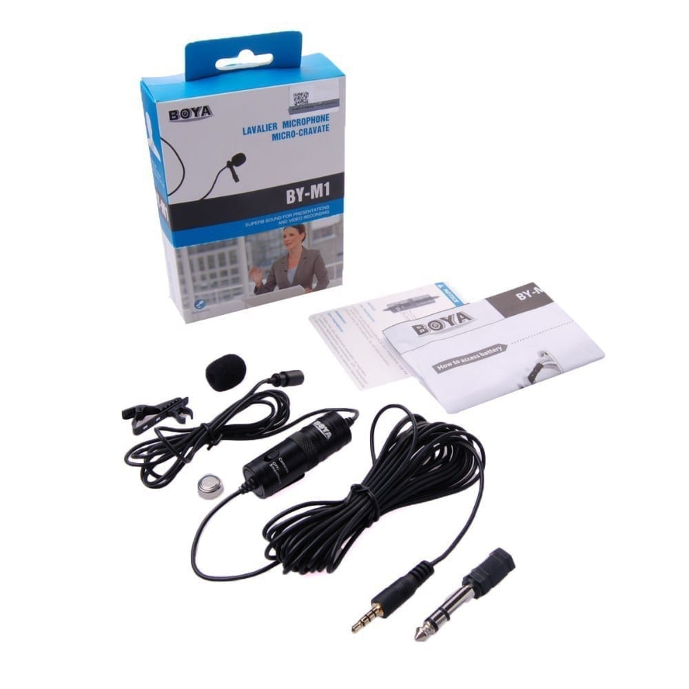Buy Online MIC BOYA M1 LAVALIER COLLAR MICROPHONE FOR ALL DEVICES [CLONE] Price in Pakistan